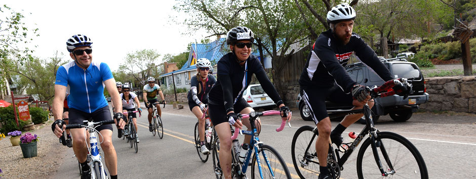 You will always see lots of smiles at the Santa Fe Century 100 mile bike ride through New Mexico.